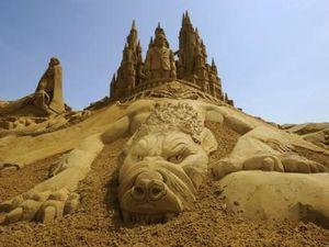 Festival de sculpture sur sable en Belgique....
