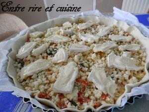 Quiche gratinée aux Légumes, Tofu soyeux et Colombo (sans oeuf)