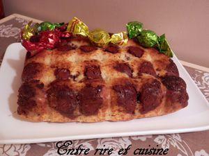 Muffin géant aux yaourts à la grecque, à la vanille et boules pralinées ! Ho ho ho