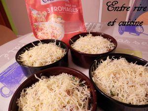 Gratins légers, riches en légumes - crevettes et béchamel au curry/curcuma
