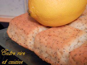 Gâteau à l'Eau {sans oeuf} au Citron et graines de Pavot