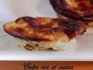 Mini quiches sans pâte fromage blanc / Grana Padano