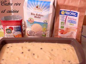 Fondant à la noix de coco, bananes et chocolat {sans gluten et sans lactose}