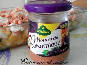 Gratin aux 2 poissons, aux légumes et sauce à la moutarde balsamique