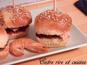 Mini-burgers au foie gras et confit d'oignons (ou confit de figues)