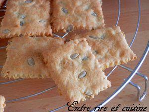 Crackers au fromage et aux graines de tournesol