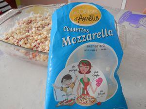 Gratin d'Aubergines Bacon/Chorizo à la Mozzarella