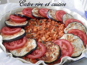 Quiche Aubergine/Tomates/ Feta au Thon