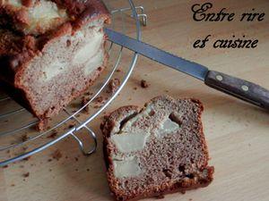 Cake aux poires et à la farine de châtaigne