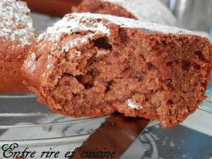 Gâteau au chocolat à la compote de pommes {sans oeufs, sans beurre}