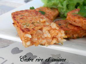 Bâtonnets (galettes) de riz aux lentilles corail et fines herbes...un accompagnement qui change