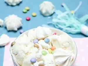 Crème glacée aux Smarties et meringues © Les Gourmands {disent} d'Armelle