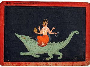 les dieux des points cardinaux et inter cardinaux : Agni, Brahma, Garuda, Indra, Kubera, Varuna, Vayu et Yama