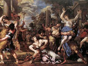 Enlèvement des Sabines et Romulus