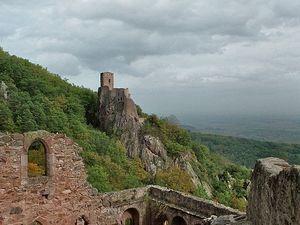 Le château de Saint Ulrich, Haut-Rhin, Alsace