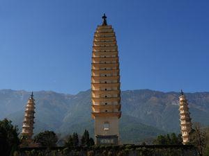 Le Temple des 3 pagodes de Dali, Région Yunnan, Chine