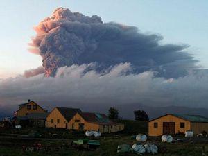 Le volcan Baroarbunga, en éruption, Hautes Terres d'Islande, Islande