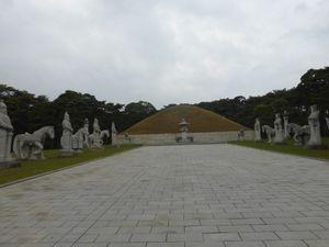 Le tombeau du roi Tongmyong, Jumong, et légende mythologique, Corée du Nord