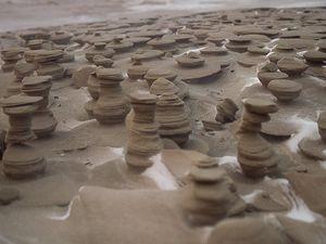 Phènomènes naturels, les petites tours de sables, Joshua Nowicki photographe, USA