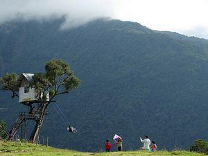 La balançoire au-dessus du vide, Casa Del Arbol, Banos, Equateur