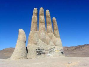 La main dans le désert, &quot&#x3B;Mano del Deserto, Atacama, Chili
