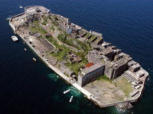 L'île abandonnée d'Hashima,l'île fantôme,Gunkanjima, Japon