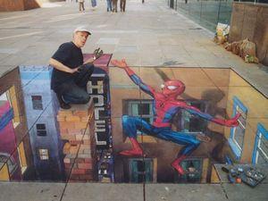 Les trompes l'œil, art dans la rue, Julian Beever, USA