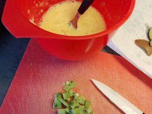 Omelette au four sucrée kiwi banane