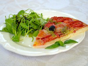 Pizza tomates - mozza