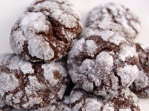 Biscuits craquelés tout chocolat