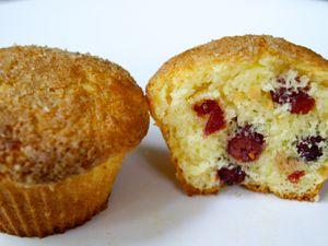 Muffins au citron et cranberries