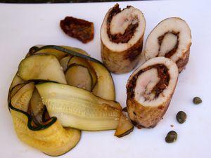 Escalopes de poulet farcies à la provençale