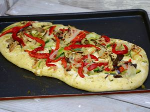 Focaccia aux légumes grillés