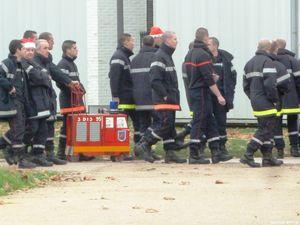 Manifestation des pompiers du Val d'Oise