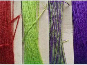 de belles couleurs vives et un fil pur laine