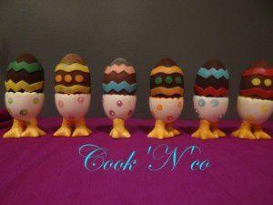Voici quelques uns des chocolats que j'ai réalisé pour Pâques.