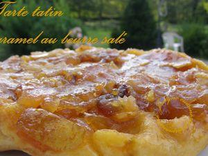 Tarte tatin revisitée au caramel beurre salé Jaclyne www.cuisineetgourmandise.fr