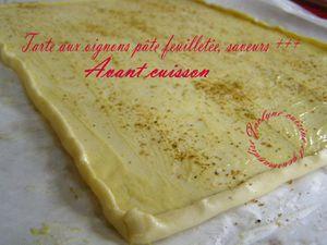 Tarte aux oignons, pâte feuilletée, curry, cumin, poivres, crème Jaclyne www.cuisineetgourmandise.fr