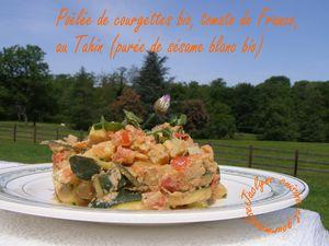 Poêlée de courgettes bio, tomate de France, au Tahin (purée de sésame blanc bio) Jaclyne www.cuisineetgourmandise.fr