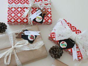 Paquets rétro pour jolis cadeaux