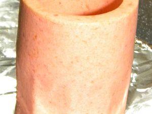 Les timbales de tomate seront démoulées et conservées au congélateur jusqu'à leur utilisation - Elles décongèlent en 15 minutes environ à température ambiante -