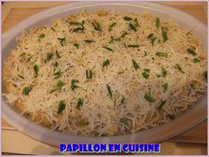 Recette: Gratin de fruits de mer, riz, poireaux et champignons