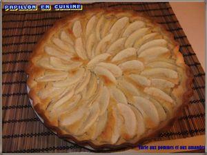 Recette: Tarte aux pommes et aux amandes