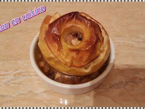 Recette: Pommes miel et fruits secs cuites au four