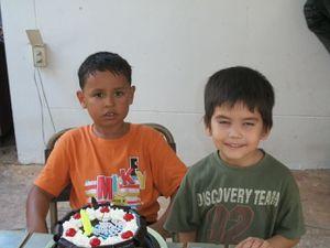 Thaïlande: Anniversaire de mon fils Alex.