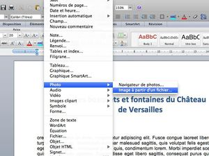insertion une image dans word