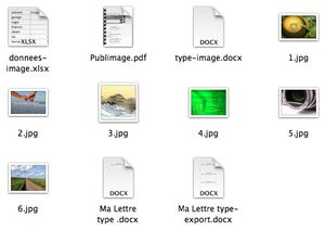 Base de donnée pour une fusion dans word avec un champ image et dossier de travail