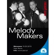 the melody makers, des musiciens d'exception tels joey baron, eliane elias, marc johnson, john abercrombie, dress grew, ou marc copland
