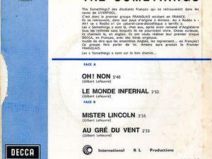 les somethings, un groupe d'étudiants français qui se retrouvaient dans les caves de liverpool, le premier groupe franglais existant en france