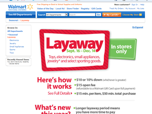 Walmart anticipe et lance ses wish list de Noël dès Back to School ... en Layaway.